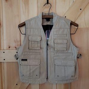 Woolrich Youth Fishing Vest Sz.7 Khaki NWT
